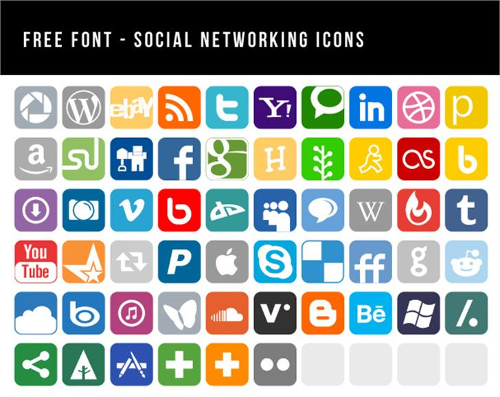 Social Networking Icons Font screenshot internet