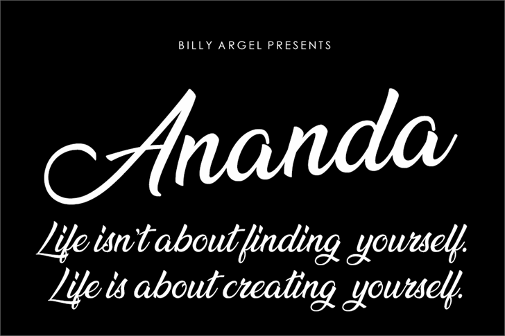 Ananda Font text design