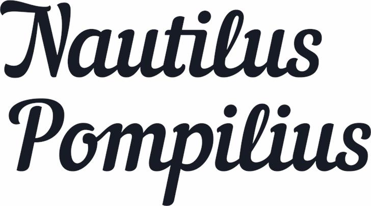 Nautilus Pompilius Font text