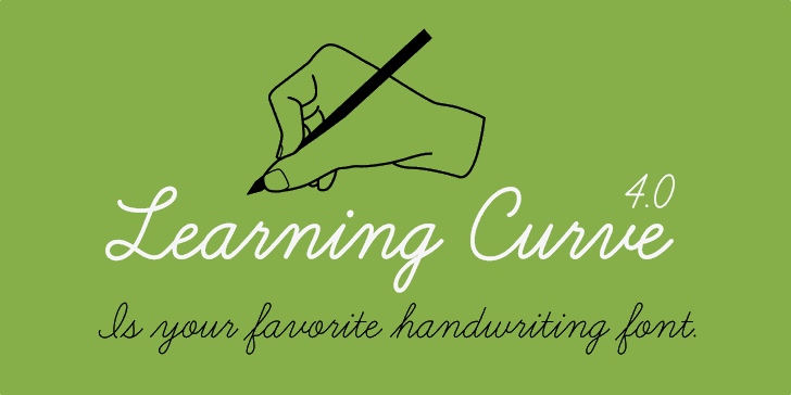Learning Curve BV Font handwriting design