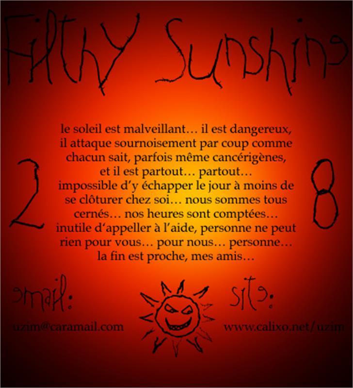 Filthy Sunshine font by Uzim