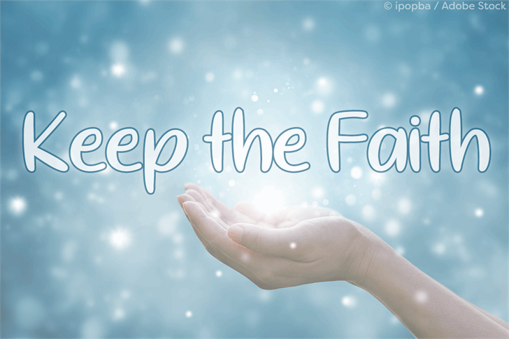 Keep the Faith Font person water sport