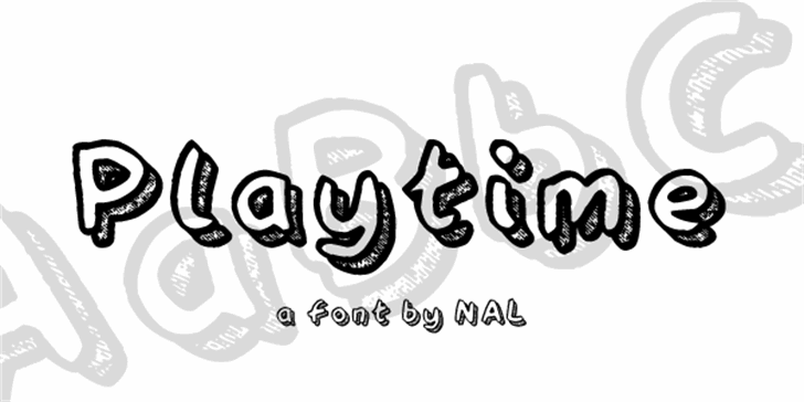 Playtime Font design graphic