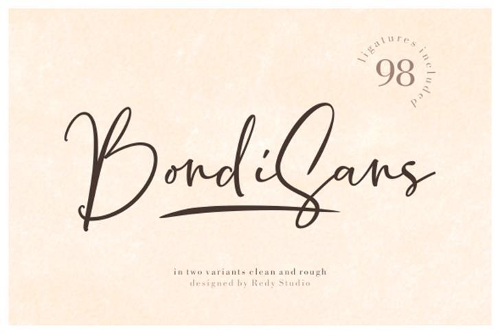 Bondi Sans DEMO Rough Font handwriting text