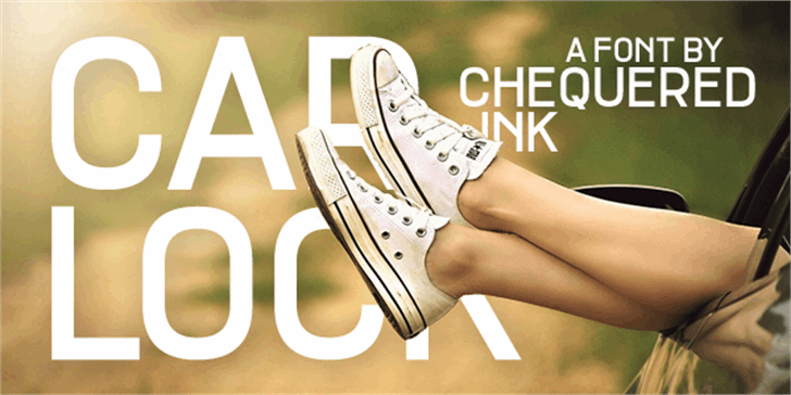 Car Lock font by Chequered Ink