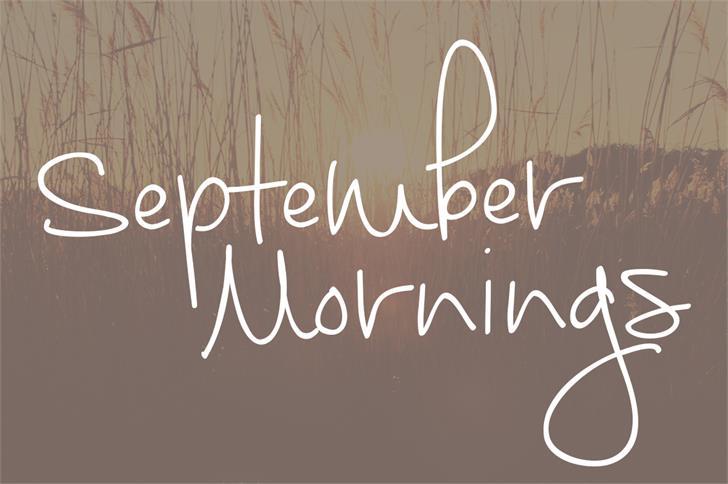 September Mornings Font handwriting text