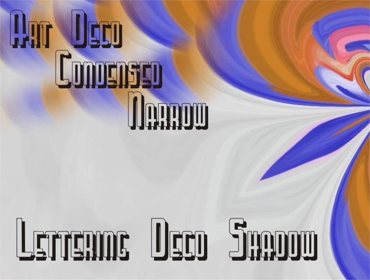 LetteringDecoShadow Font screenshot design