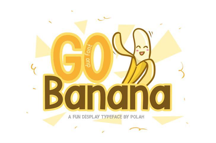 Go Banana Font design cartoon