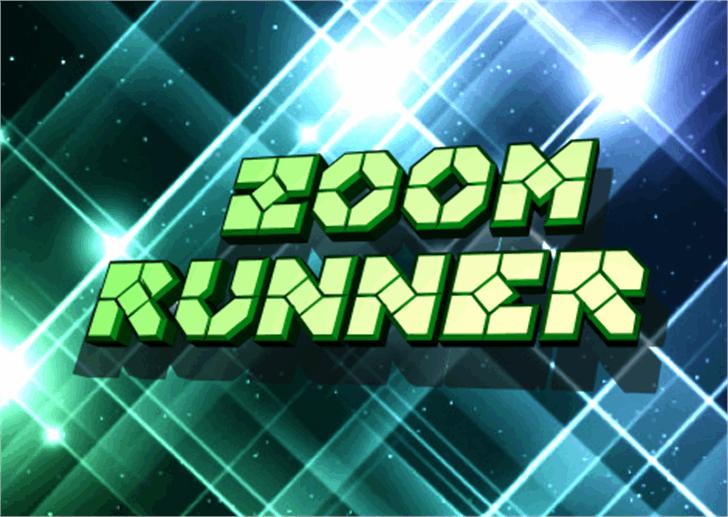 Zoom Runner Font screenshot geometry