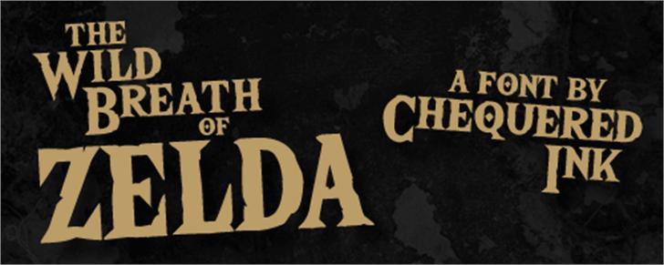 The Wild Breath of Zelda Font poster sign