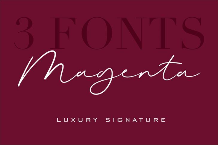 Magenta Font design