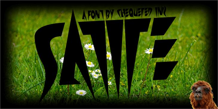 Satire Font flower plant