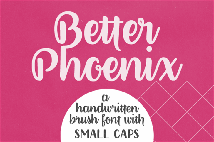Better Phoenix Sample Font poster design