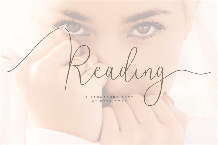 Reading Font handwriting design