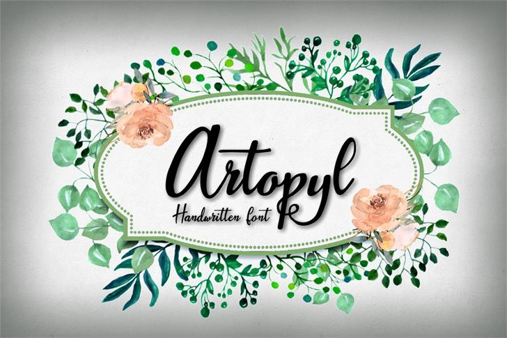 Artopyl Demo Font cartoon design