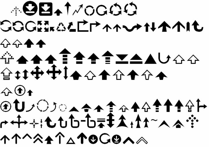 Arrow 7 Font cartoon font