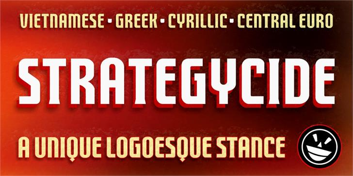 FTY STRATEGYCIDE NCV font by the Fontry