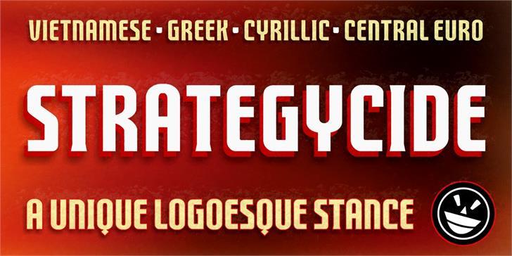 FTY STRATEGYCIDE NCV Font poster screenshot