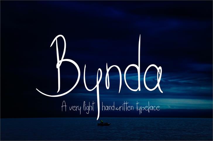Bynda Font text typography