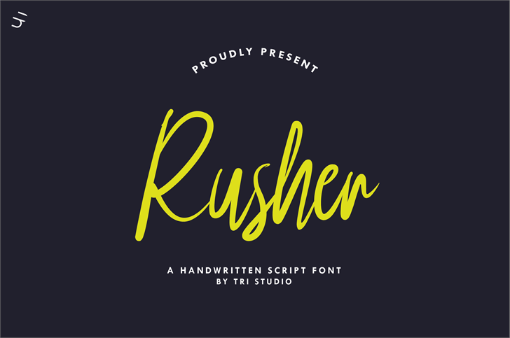 Rusher Font poster
