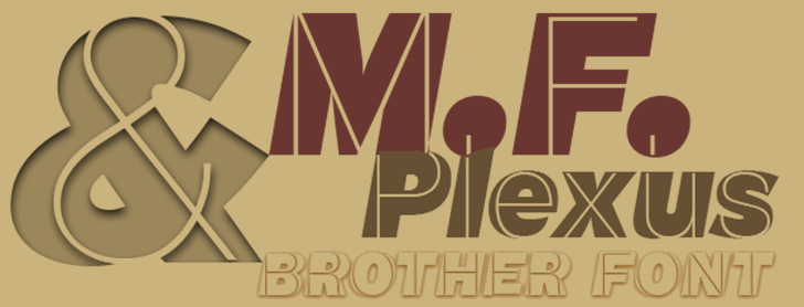 M.F. Plexus Italic Font design poster