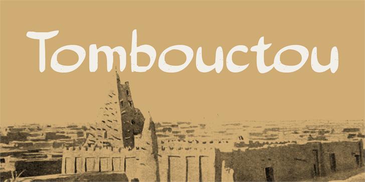 Tombouctou DEMO Font handwriting design