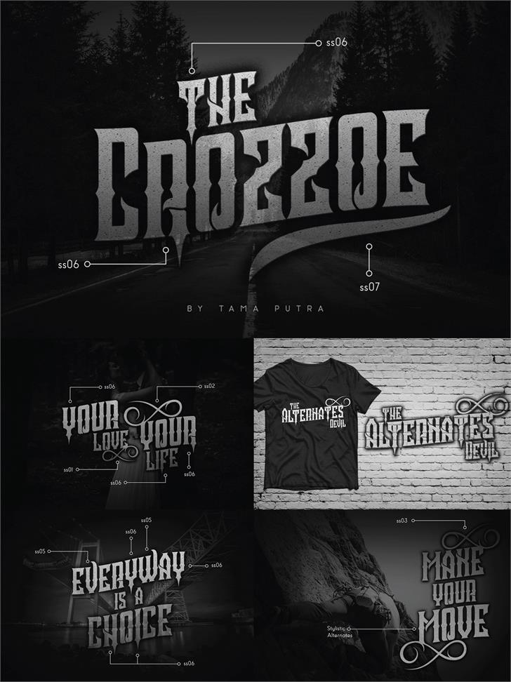 Crozzoe Personal Use Font poster text