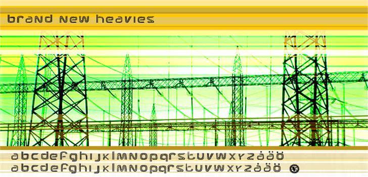 Brand New Heavies Font screenshot parallel