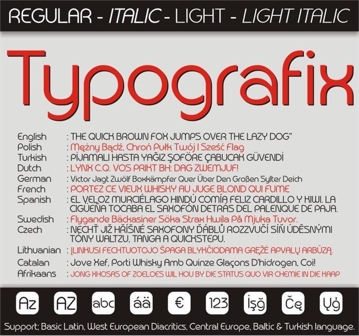 Typografix Font screenshot abstract