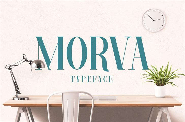 MORVA Font design furniture