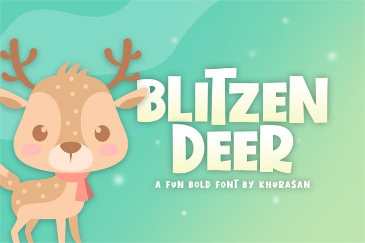 Blitzen Deer Font poster