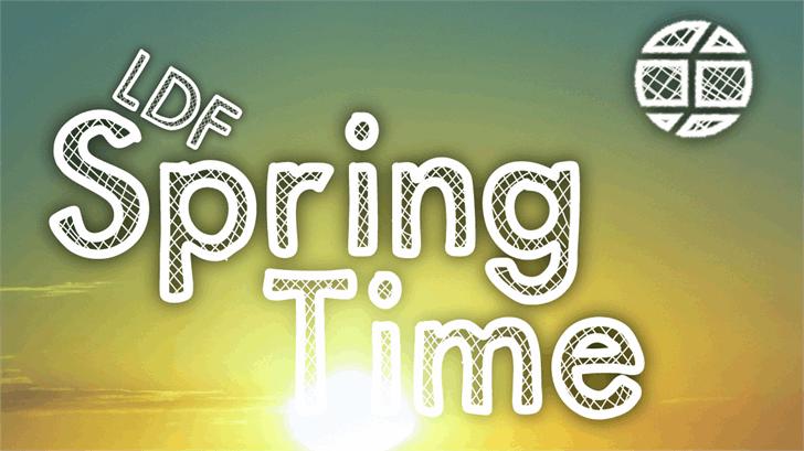 SpringTime Font design screenshot