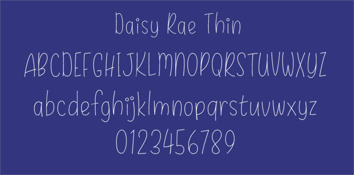 Daisy Rae Thin Font text handwriting