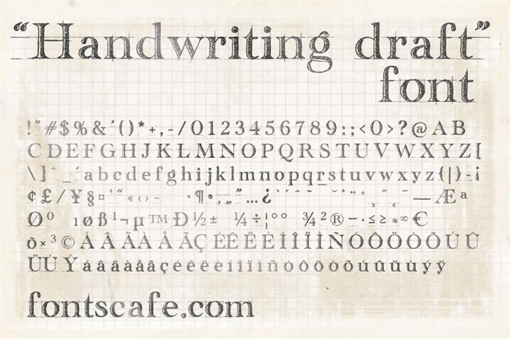 handwriting-draft_free-version Font text handwriting