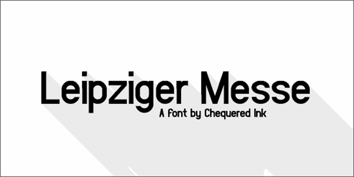 Leipziger Messe Font design graphic