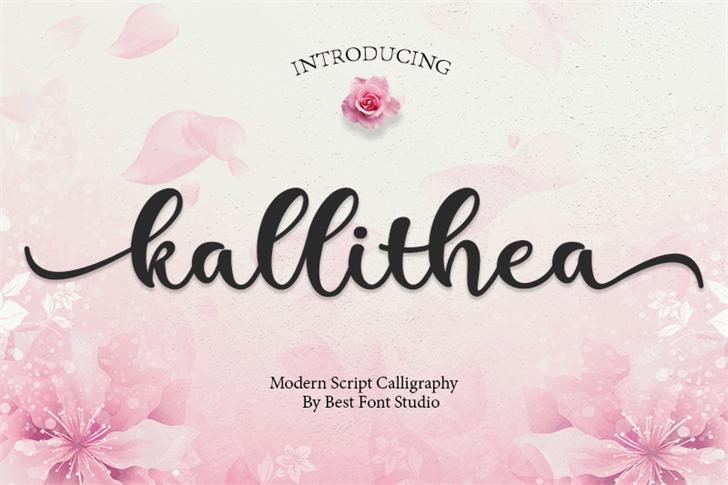 kallithea Font design text