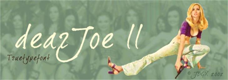 Dear Joe 2 font by JOEBOB graphics