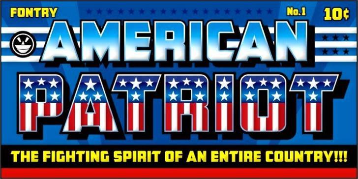 CFB1 American Patriot Font screenshot text
