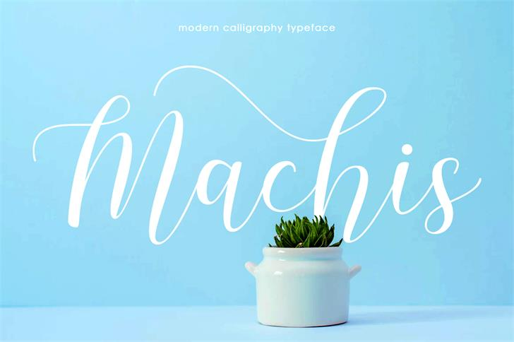 Machis Demo Font poster
