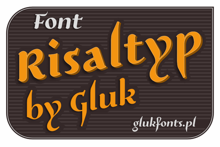 Risaltyp Font design screenshot