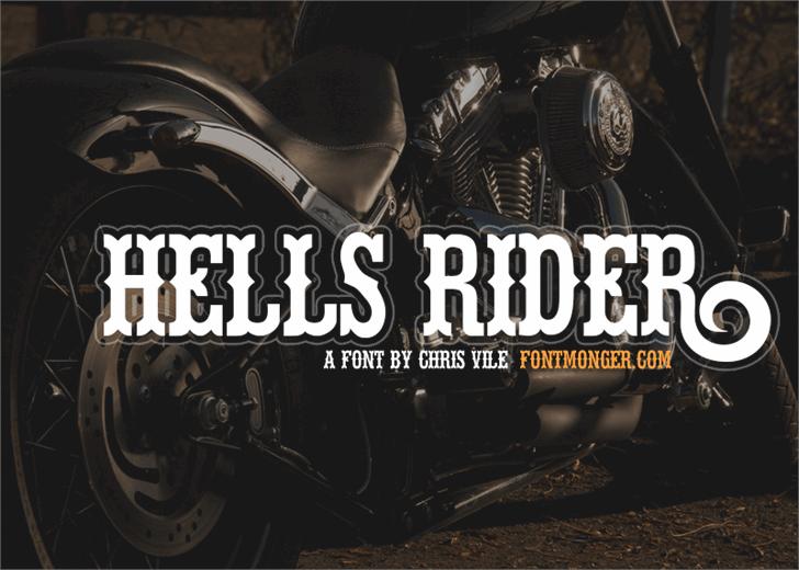 Hells Rider Font poster screenshot