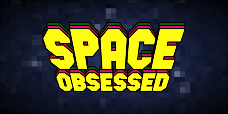 Space Obsessed font by Chequered Ink