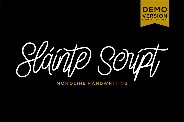 Slainte Script Demo Font design text