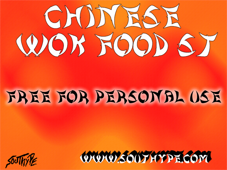 Chinese Wok Food St font by Southype