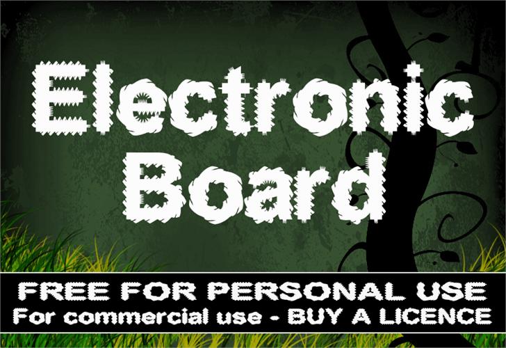 CF Electronic Board Font text screenshot