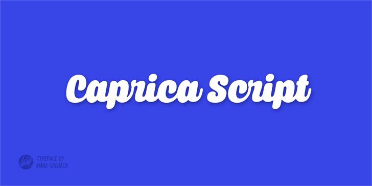 Caprica Script Personal Use Font design electric blue