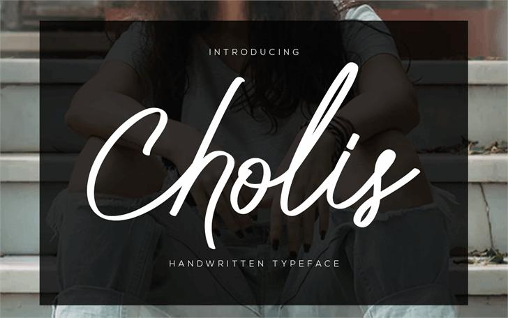 Cholis Font poster