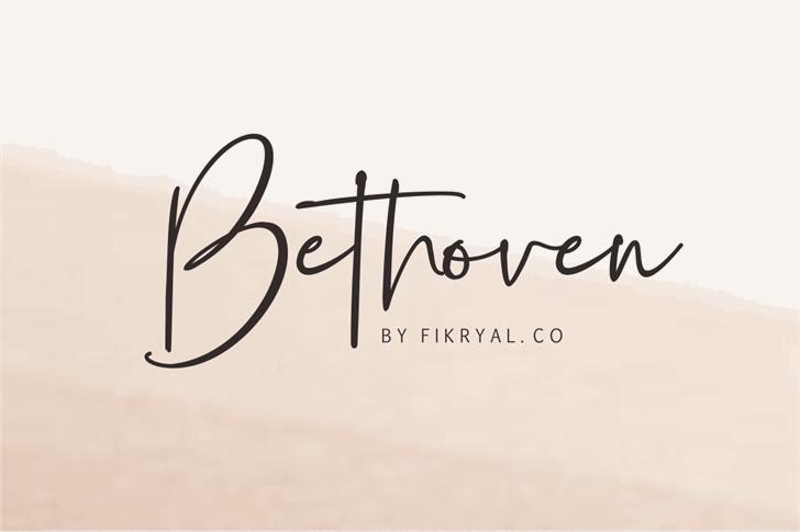 Bethoven Font handwriting design