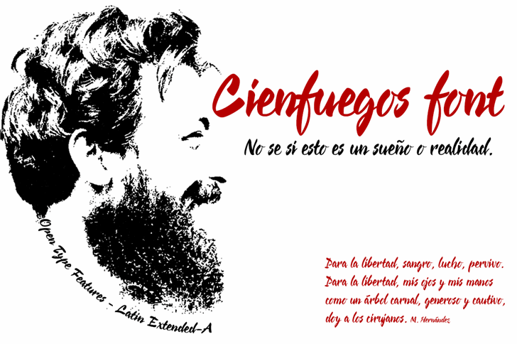 Cienfuegos Font design cartoon