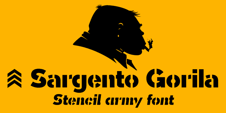 Sargento Gorila Font cartoon illustration